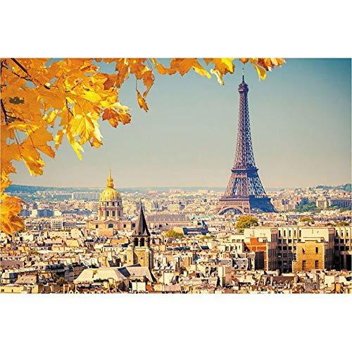 Puzzle-p Berühmte Gebäude Eiffel Turm 1000 Stück - große 29 von 20 Zoll Einzigartige Cut Interlocking Stück (75.5x50.5cm) p