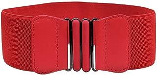 Wide Elastic Plus Size Dress Belt for Women Waist Belts Stretch Waistband