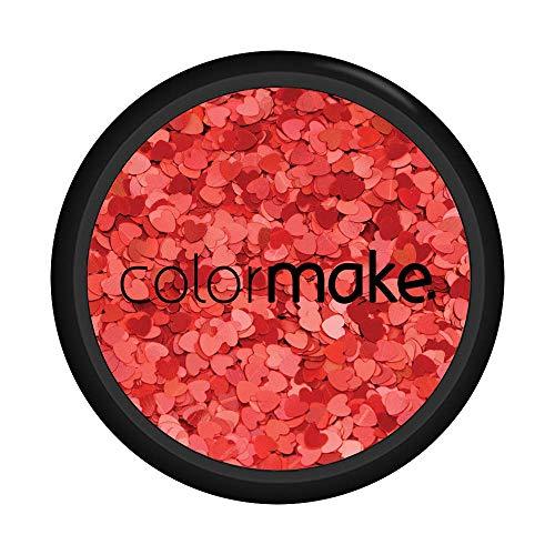 Glitter Shine Coração Vermelho 2G, Colormake