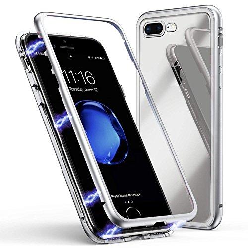 BelloCase Funda para iPhone 7 Plus/iPhone 8 Plus, carcasa de metal ultrafina,...