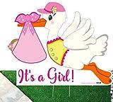 'It 's a girl' Flying Rasen Storch sterben, Schnitt Schild (Willkommen Zuhause Neue Baby Yard Schild)