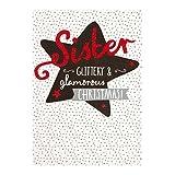 Hallmark Weihnachskarte für Schwester, Modell'Glitzer und Glamour', mit englischem Text, mittelgroß