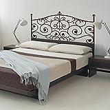 Calcomanía de Vinilo para cabecero de Cama de recámara, cabecero de Cama, decoración de Pared (76,2 x 139,7 cm), Color Negro