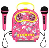 Toddlers Karaoke Machine for Girls Boys with 2 Microphones Bluetooth Kids Karaoke Speaker with Voice Changer for Birthday Festival Gifts Portable Children Singing Machine Aged 3-12