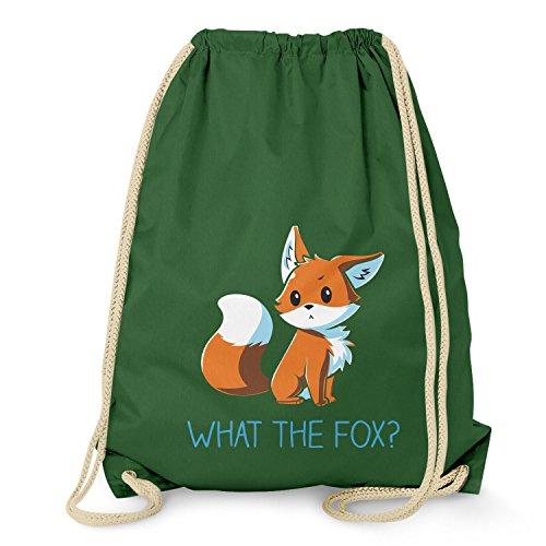 Nerdo What the Fox - Turnbeutel, dunkelgrün