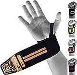 RDX Sangle Musculation Protège Poignet Soutien Bandage Support Crossfit Entraînement Haltérophilie wrist Wraps , orange, taille unique