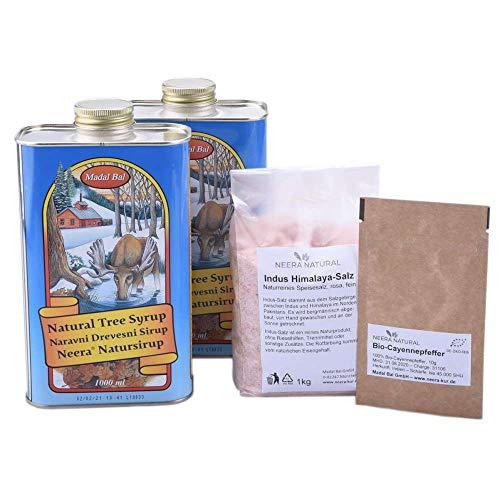 10-14 Tage Neera-Zitronensaftkur (2 Liter Neera-Baumsirup, Cayenne, Himalayasalz aus der Salt Range Pakistans) für Fasten-Drink