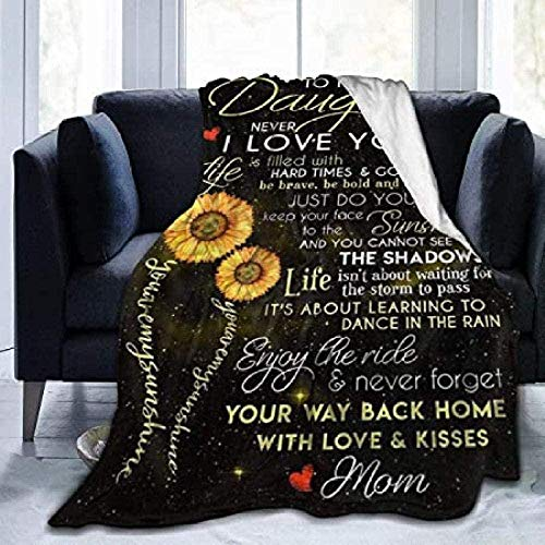 Sunflower My Daughter Fuzzy Blanket Throw Queen Size Bed for The Living Room King Blanket Twin for Couch Chair Sofa Outdoor Fleece Boys