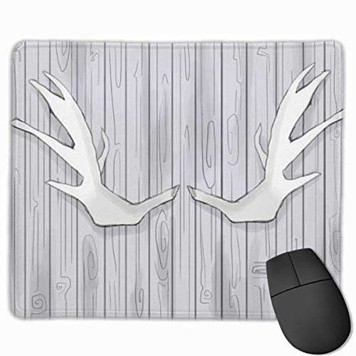 Antler Sheds Wood Rectangular Non-Slip Gaming Mouse Pad Keyboard Rubber Mouse Pad for Home and Office Laptops 25x30cm