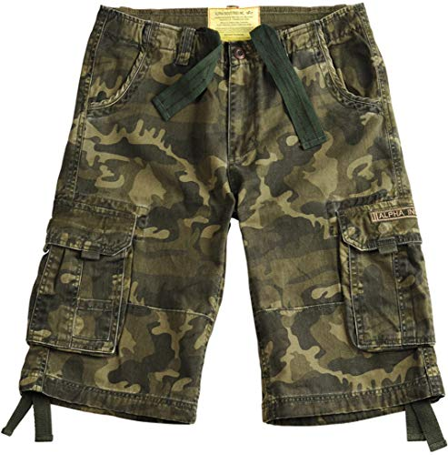 Alpha Industries Jet Shorts Oliv Camouflage 31