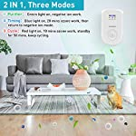 Air purifiers plug in for home, mini odor eliminator丨ozone negative ion dual function丨ionizer to remove smoke pet toilet… 10 🍃2-in-1 pluggable air purifier: cornmi air purifier has a built-in ozone and negative ion generator. Ozone has a strong oxidative decomposition ability, and negative ions can absorb dust. The combination of these two functions can effectively eliminate pet odor, secondhand smoke and kitchen oil fume, allowing you to enjoy natural fresh air at home. 🍃ozone deodorization function: the deodorizer can achieve the purpose of comprehensive and efficient cleaning by short-term releasing low-concentration o₃. O₃ has strong permeability, diffusibility and decomposition ability, which can effectively eliminate harmful substances and smells in the air. 🍃anion purification function: the air ionizer can produce anion, combine with the dust that are positive ions in the air and sink to the ground, avoiding the danger of inhaling floating objects. And achieve the removal of cigarette smoke, oil fumeand other particles matter. Effectivelyrefresh the air and improve the quality of sleep.