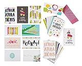 Grußkartenfür alle Gelegenheiten von Best Paper Greetings (48 Stück) –Englische Texte z. B. Happy Birthday, Thank You, Congratulations - Innen blanko - Umschläge enthalten–10cm x 15cm