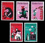FGNDGEQN Colección de Sellos Bielorrusia Países Bajos 1967 Bienestar Infantil Cradle Hedgehog Giraffe Bear 5 Nuevo Sello Extranjero
