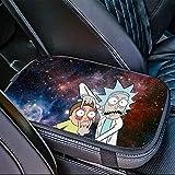 Rick & Morty Auto Center Console Cover Pad Car,...