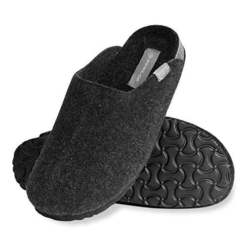 Dunlop Schuhe Herren, Hausschuhe Herren und Teenager Jungen, Warme Filzpantoffeln Herren 41-46, Gedächtnis Schaum Gäste Hausschuhe, Geschenke für Männer (Holzkohle, Numeric_43)
