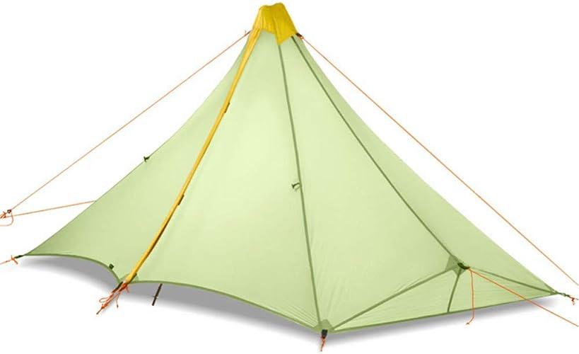 ZHJLOP Tente 1 Personne campant la Tente extérieure en Nylon 20D de Silicium enduisant Le Silicium enduisant la Pyramide sans Tige la Tente 4 Saisons extérieure