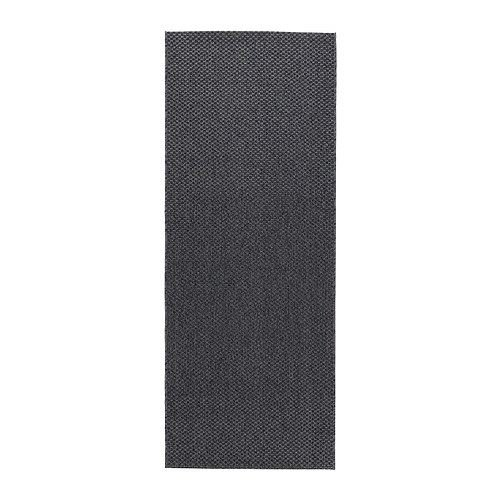 eLisa8 Morum - Alfombra, tejido plano, color gris oscuro para interior/exterior, gris oscuro