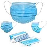 Hannah Linen Disposable Face Masks 50 Pieces Set- Non-Woven Dust Mask with Earloop for Personal Care - Fast Ship from USA - Navy Blue Color