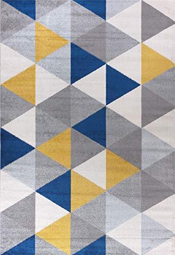 Tapis River Stream 04 Moderne à Design scandinave coloré avec Motif géométrique - Parfait pour la Chambre ou Le Salon (160 x 220 cm)