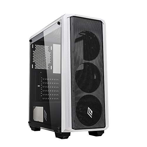 Noua Cool G3 Bianco Case ATX per PC Gaming Frontale Metal Mesh 0.55MM SPCC 3*USB3.0/2.0 Pannello Laterale in Vetro Temperato (AxPxL: 480x425x210 mm)
