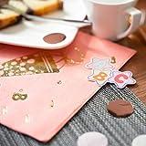 Oblique Unique® 20 Servietten für Schuleinführung Schulanfang Einschulung Deko für Mädchen mit Zuckertüte ABC 1 + 2 = 3 Stifte Motive Rosa - 2