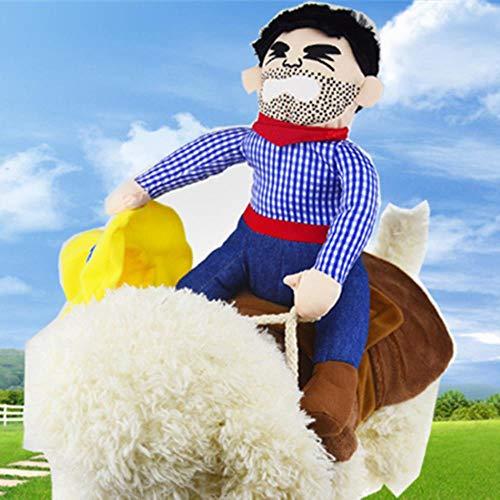 FHKGCD grappige huisdier hond kostuum cowboy pak kleding voor honden paardrij-kleding Outfit huisdieren hond kostuum partij pak