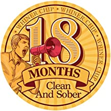 MyRecoveryStore 18 Month AA Chip Alcoholics Anonymous AA Whiner Poker Chip Unique Sobriety Gift 18 Month Clean and Sober Chip