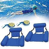 KOXHOX Water Floating Hammock Inflatable Swimming Pool Float Lounge Foldable...