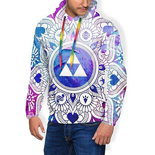 Casual Hoodie with Pocket for Fishing Gym Yoga, Men & Boys Legend of A Zelda Mandala Pullover Hoodie Hooded Plus Velvet Thickening Sweatshirtss Long Sleeves Fit Tops