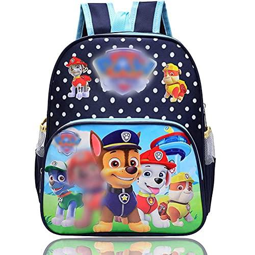 ZSWQ Paw Patrol Rucksack für Kinder, Chase Marshall Rubble Schultasche Rucksack Kinder Schulrucksack