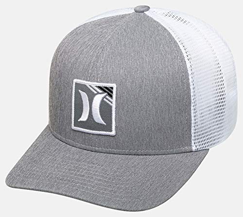 Hurley M Dri-Fit Bayline Hat Gorra, Hombre, Grey Heather, 1SIZE