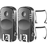 Neewer 2,4G Mando a Distancia Inalámbrico Disparador Flash Transceptor par con Mando a Distancia Cable de Obturador para Nikon Cámaras Réflex Digitales