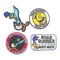 ロードランナー ROAD RUNNER ワッペン 4Pセット キャラクター