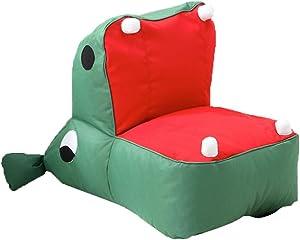 Fenfatuqiang Divano per Bambini Tessuto Cartoon Bean Bag Cuscino Portatile Adatto per Bambini Poltrone Imbottite per Bambini Mobili per la Stanza in Regalo (Color : Gray, Size : 23.6 * 19.6 * 29.5IN)