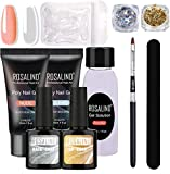 Poly Ongles Gel Kit Complet 30ML Transparent Nude Couleur Poly Acrylic Gel Pour Ongle Tube Soak Off UV Nail Extension Gel Builder Gel