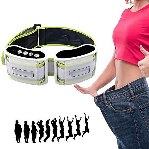POEO Elektrischer Abnehmen Gürtel, Fettverbrennung Gurt mit Leckagestecker, Fett Reduzieren und Muskelmassage, Verbessern Sie Die Durchblutung für Frauen und Männer