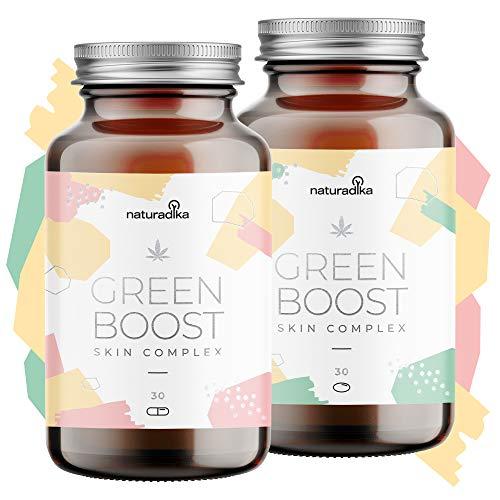 GREEN BOOST SKIN CARE COMPLEX SOIN VISAGE | Avec huile de Chanvre, Acide Hyaluronique, Vitamine E, Coenzyme Q10 et Resvératrol | 2 produits exclusifs pour l'acne et la beauté femme