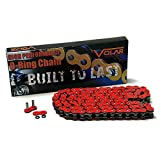 Volar O-Ring Motorcycle Chain for Extended Swingarm - Red for 525 x 150 Links