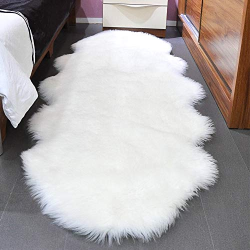 SXYHKJ Faux Sheepskin Rug, Faux Fleece, Fluffy Soft Longhair Decorative Chair Cushion...