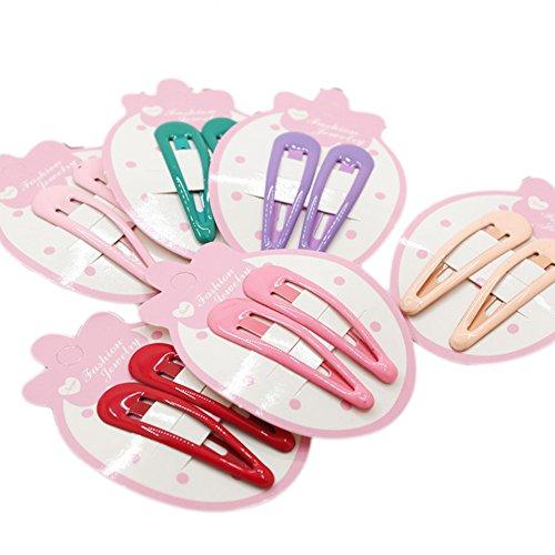 Hacoly 12 Pcs Belle Snap Cheveux Clips Mini Métal BB Clip Barrettes Cheveux Accessoires pour Enfants Bébé Filles En Bas Âge - 6 Couleurs