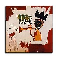 UNTITLED - ジャン・ミシェル・バスキアポスター、グラフィティアールヌーボーアートパネル絵画フォトフレーム印刷ダンフレーム印象派ヨーロッパ壁壁紙壁画美術-100 (30x30cm,額装)
