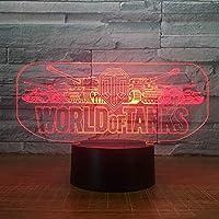 Z-LIANG ナイトライト ベッドサイドランプ ベッドサイドランプテーブルランプ、世界タンクカーステレオスタイル3Dの夜の光3DライトLED 寝室用 子供 老人
