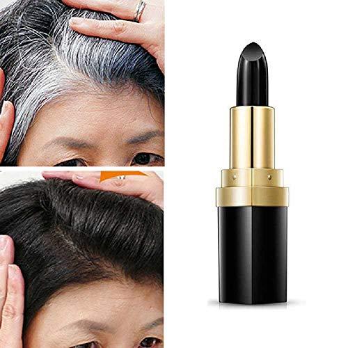 NIUHAIQING Haarfärbemittel Make-up Lippenstift Styling Light Stick Zum Abdecken Der Weißen Haarfarbecreme 1/schwarz