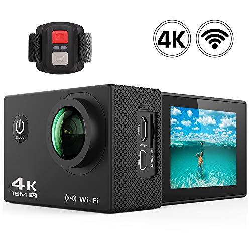 """CLN Sport-Kamera, Ultra High-Definition-4K / 30fps WiFi 2.0\"""" 170D Unterwasserwasserdichte Helmkamera Sport Kamera Anti-Shake-wasserdicht"""