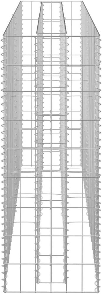 50x50x100cm UnfadeMemory Jardinera Exterior,Gaviones de Piedra,Muro de Gaviones,Decorativos para Jardin Patio,Acero Galvanizado,Plateado