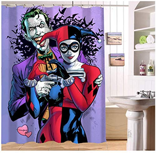 51ZygFfEm-L Harley Quinn Shower Curtains