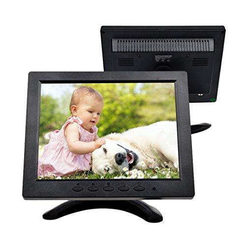 TOGUARD 8-Zoll 1024 * 768 TFT LCD Farb Monitor - Video Bildschirm mit BNC HDMI AV VGA Input