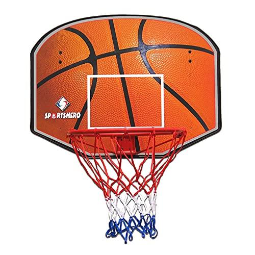 Canasta de baloncesto Interior Tablero Y Borde De Baloncesto para Adultos, Niños Y Niños Pequeños, Aro De Baloncesto Montado En La Pared para Garaje, Barandilla, Sala Y Patio De Recreo