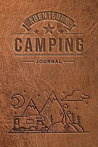 Camping Journal: Wohnmobil oder Wohnwagen Urlaub - Reisetagebuch für Van, Caravan und Camper - Logbuch für Reisemobil und Zelt - Europa USA Kanada Karte - 100 Seiten ~A5 Taschenbuch
