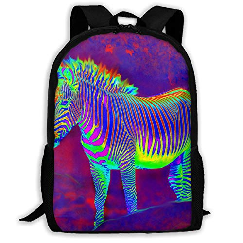 hengshiqi Mochila Backpack, Adult Backpacks Girl'S Shoulder Bag Schoolbags School Season Neon Zebra Walk Traveling Bags